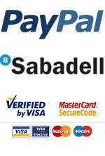 Realiza tus compras pagando con Paypal, tarjeta o transferencia bancaria.