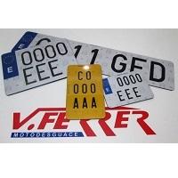 Placas de matrícula para moto y ciclomotor