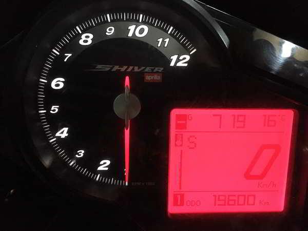 Marcador y puesta en marcha de la Aprilia Shiver 750 2012 para desguace