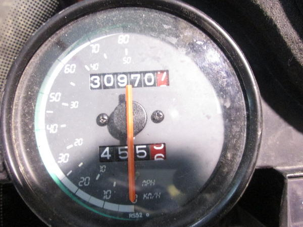 Speedometer of an Aprilia RS 50 Tuono for scrapping