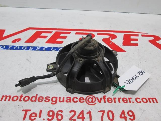 ELECTRIC FAN scrapping a motorcycle KYMCO VENOX 250 2005