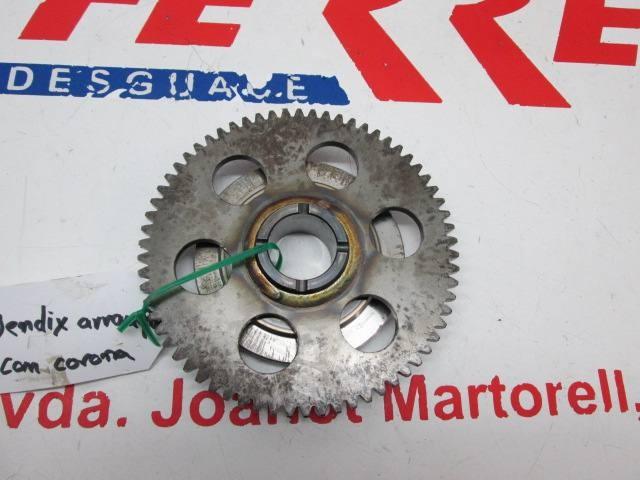BENDIX ARRANQUE CON CORONA de repuesto de una moto YAMAHA VIRAGO 250 2004
