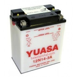 Battery for scooter or moped model 12N14-brand YUASA 12V 14Ah 3A.