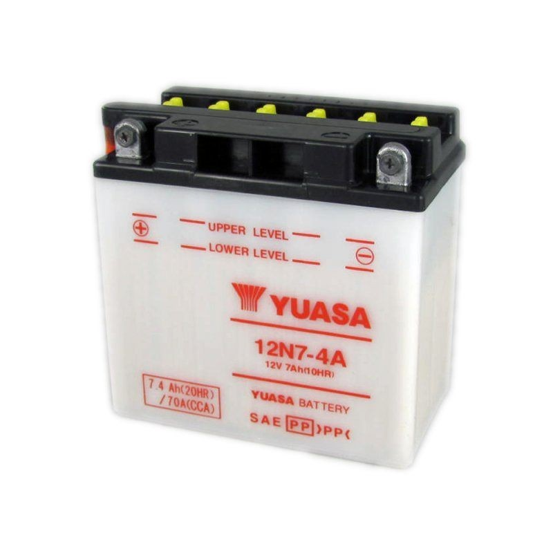 yuasa motorcycle battery 12v 7ah 12n7 4a. Black Bedroom Furniture Sets. Home Design Ideas