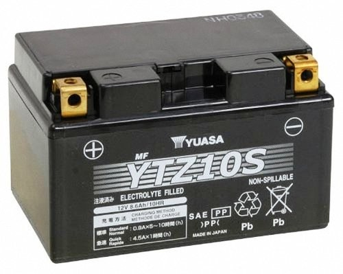 Bateria para moto o ciclomotor marca YUASA modelo YTZ10S de 12v 8.6Ah