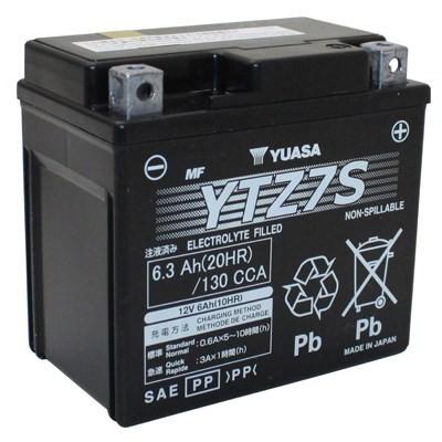 Bateria para moto o ciclomotor marca YUASA modelo YTZ7S de 12v 6Ah
