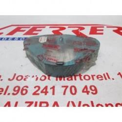 ADORNO PLATINO SUPERIOR AZUL de repuesto de una moto DERBI VARIANT