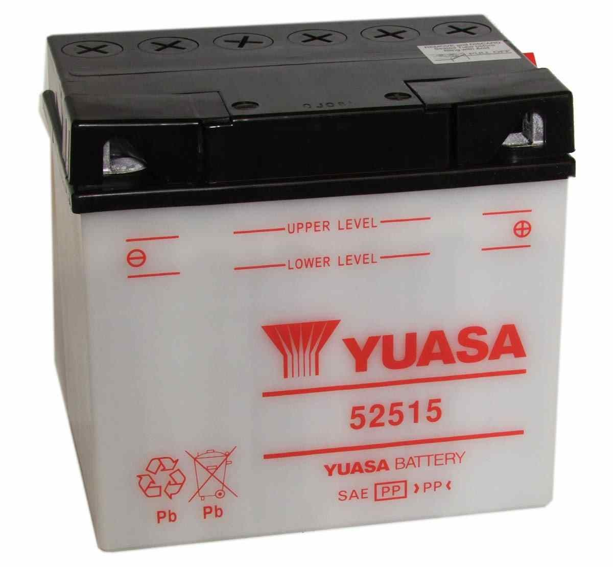 Battery for scooter or moped brand YUASA 12V 25Ah 52515de model.