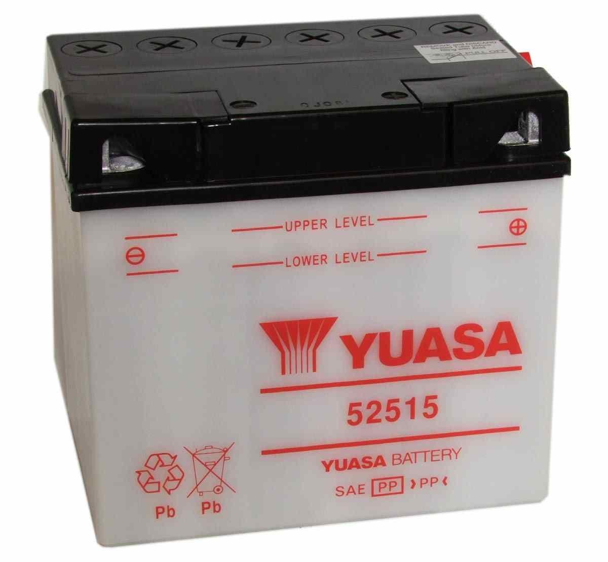 Bateria para moto o ciclomotor marca YUASA modelo 52515 de 12v 25Ah