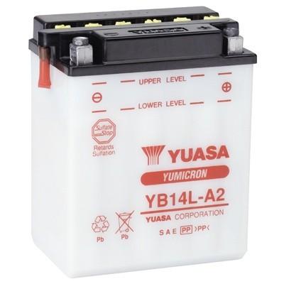 Bateria para moto o ciclomotor marca YUASA modelo YB14L-A2 de 12v 14Ah