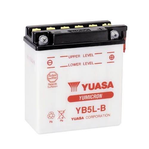 Bateria para moto o ciclomotor marca YUASA modelo YB5L-B de 12v 5Ah