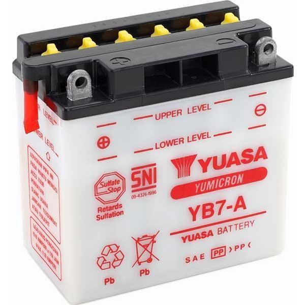 Bateria para moto o ciclomotor marca YUASA modelo YB7A de 12v 8Ah