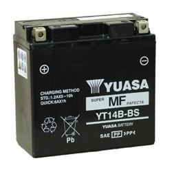 Bateria para moto o ciclomotor marca YUASA modelo YT14B-BS de 12v 12Ah