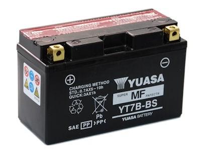 Bateria para moto o ciclomotor marca YUASA modelo YT7B-BS de 12v 6.5Ah