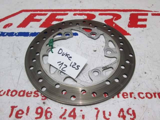 Disco freno trasero de repuesto de una moto KTM DUKE 125 del año 2012