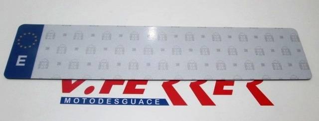 PLACA MATRICULA LARGA COCHE modelo Hiltek plástico ABS