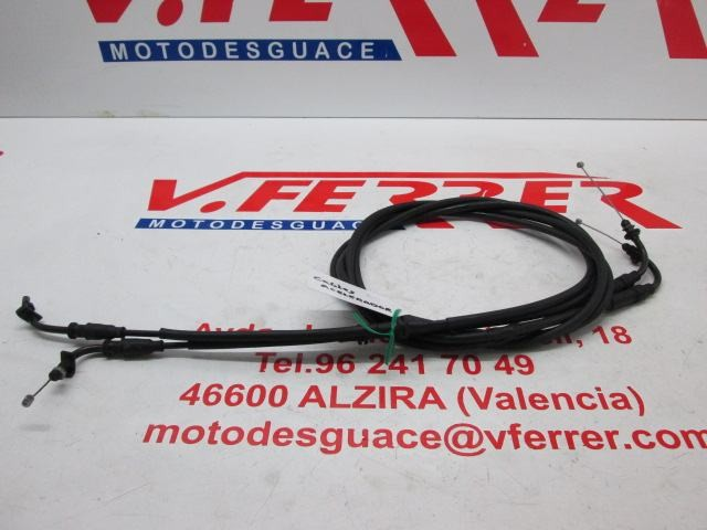CABLES ACELERADOR de repuesto de una moto GILERTA FUOCO 500 2008.