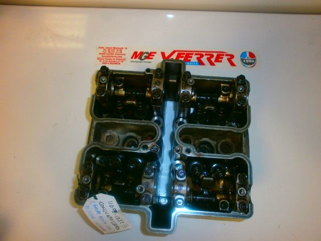 CYLINDER WITH VALVE (COUP IN LEFT WING) REVIEW VALVES of KAWASAKI VULCAN EN 500 with 37431 km.