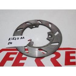 Disco freno trasero de repuesto de una moto Rieju RR 50 del año 2000