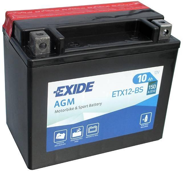 BATTERY EXIDE ETX12-BS 12V 10Ah