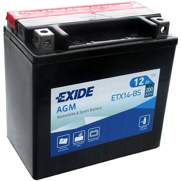 BATTERY EXIDE ETX14-BS 12V 12Ah