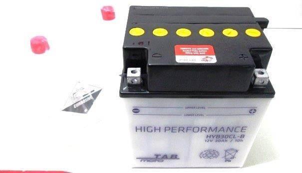 Bateria para moto o ciclomotor marca POWER THUNDER, TAB modelo YB30CL-B de 12v 30Ah