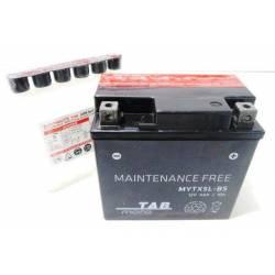 Battery for scooter or moped brand THUNDER POWER-O TAB model YTX5L BSDE 12v 4Ah.