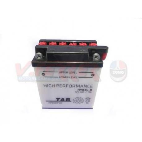 Bateria para moto o ciclomotor marca POWER THUNDER, TAB modelo YB3L-B de 12v 3Ah