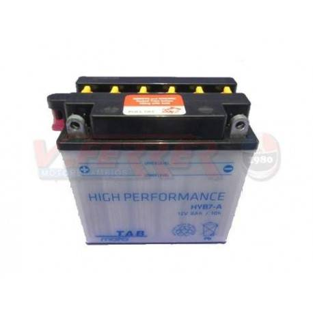 Battery for scooter or moped THUNDER POWER model YB7Ade TAB 12v 8AH.