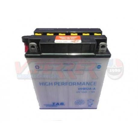 Bateria para moto o ciclomotor marca POWER THUNDER, TAB modelo YB12A-A de 12v 12Ah
