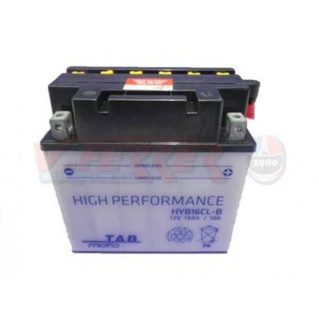 Bateria para moto o ciclomotor marca POWER THUNDER, TAB modelo YB16CL-B de 12v 19Ah