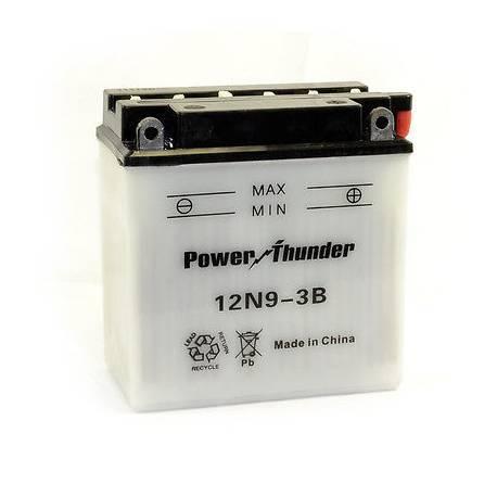 Bateria para moto o ciclomotor marca POWER THUNDER, TAB modelo 12N9-3B de 12v 9Ah
