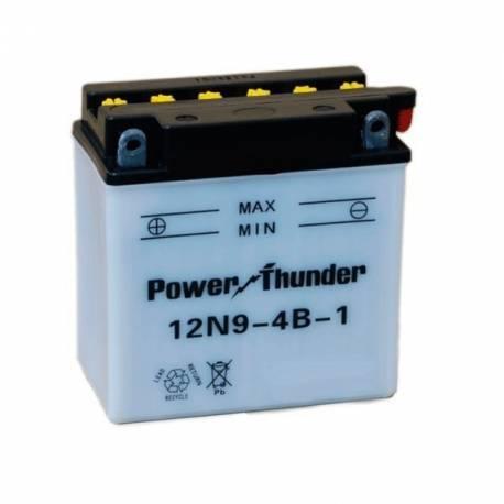Bateria para moto o ciclomotor marca POWER THUNDER O TAB modelo 12N9-4B-1 de 12v 9Ah