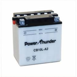 Bateria para moto o ciclomotor marca POWER THUNDER, TAB modelo YB10L-A2 de 12v 11Ah