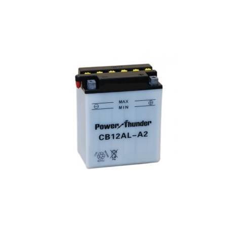 Bateria para moto o ciclomotor marca POWER THUNDER O TAB modelo YB12AL-A2 de 12v 12Ah