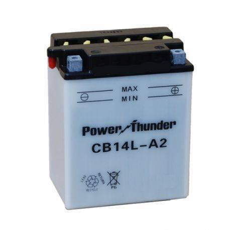 Bateria para moto o ciclomotor marca POWER THUNDER, TAB modelo YB14L-A2 de 12v 14Ah