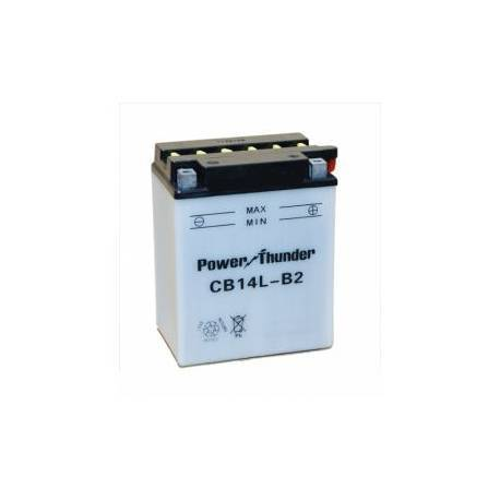 Bateria para moto o ciclomotor marca POWER THUNDER, TAB modelo YB14L-B2 de 12v 14Ah