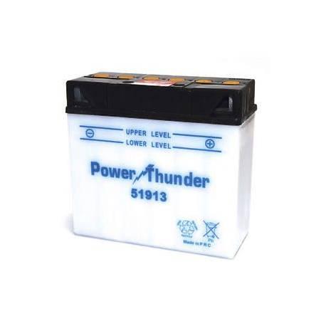 Bateria para moto o ciclomotor marca POWER THUNDER, TAB modelo 51913 de 12v 19Ah