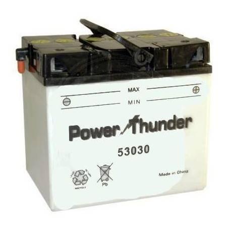 Battery for scooter or moped THUNDER POWER model 53030de TAB 12v 30Ah.