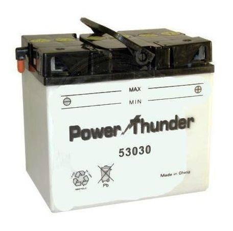 Bateria para moto o ciclomotor marca POWER THUNDER, TAB modelo 53030 de 12v 30Ah