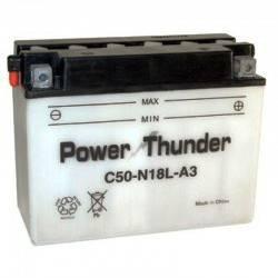 Bateria para moto o ciclomotor marca POWER THUNDER, TAB modelo Y50N18L-A de 12v 20Ah