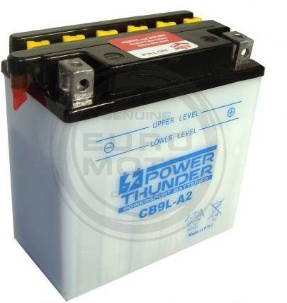 Battery for scooter or moped THUNDER POWER model YB9L TAB-A2DE 12v 9Ah.