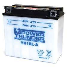 Bateria para moto o ciclomotor marca POWER THUNDER, TAB, PLATINUM modelo YB18L-A de 12v 18Ah