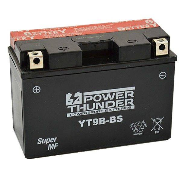 Battery for scooter or moped THUNDER POWER model YT9B-TAB BSDE 12v 8AH.