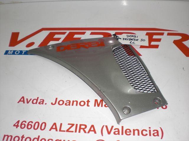 TAPA LATERAL DELANTERA IZQUIERDA (RAYADA) de repuesto de una moto DERBI PREDATOR
