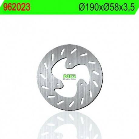 REAR BRAKE DISK NG 023 MEASURES 190 X 58 X 3.5