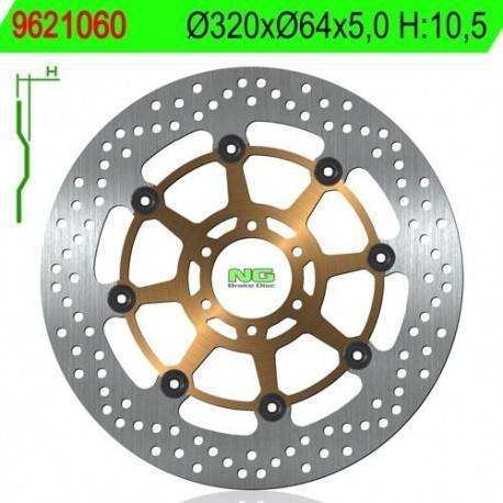 FRONT BRAKE DISC NG MEASURES 320 X 64 X 5