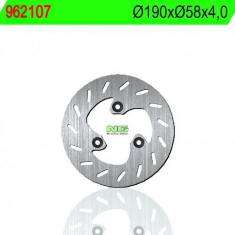 BRAKE DISC NG MEASURES 190 X 58 X 4