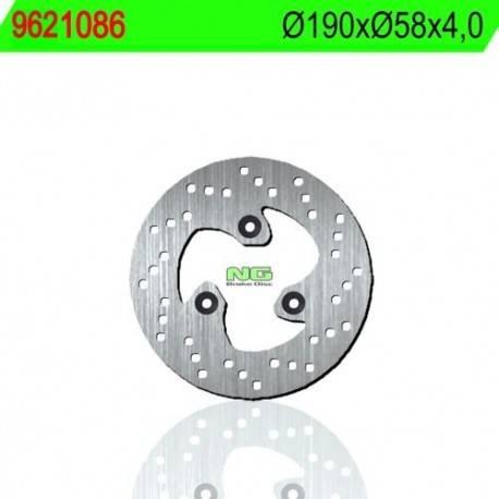 BRAKE DISC NG MEASURES 190 X 58 X 4
