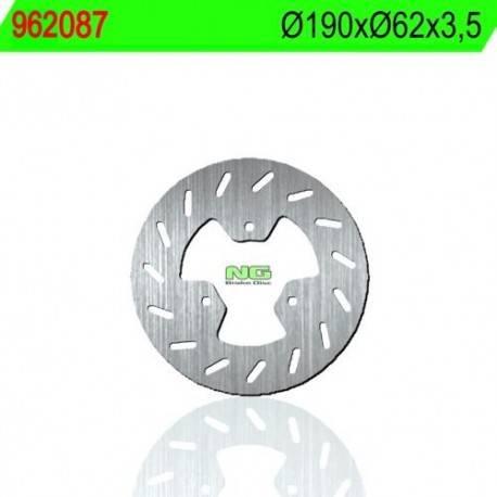 BRAKE DISC NG MEASURES 190 X 62 X 3.5
